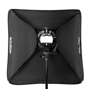 Image 5 - Godox 60x60 cm 24x24 pouces Flash Speedlite Softbox + S type support Bowens support avec 2 m support de lumière pour la photographie de caméra