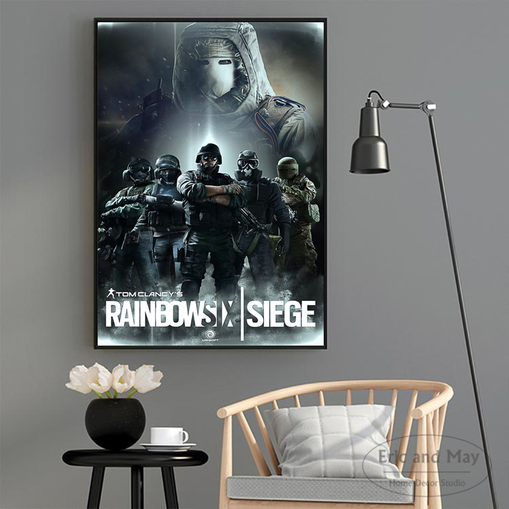 Custom Silk Poster Rainbow Six Siege Tachanka Wall Decor