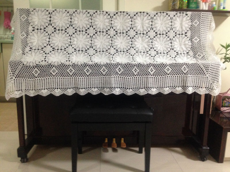 Handmade Crochet Tablecloth Crochet Flower American Piano Cover Nordic Ikea Style For Wedding