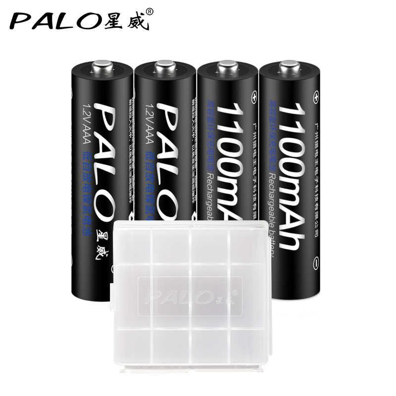 Palo 4 шт. AAA батарея + умный светодиодный дисплей зарядное устройство USB зарядное устройство для Ni-MH/CD AA AAA Li-ion 3,7 V 18650 аккумуляторная батарея