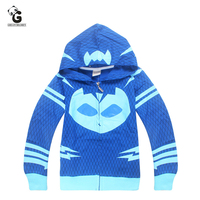 Pjmasks Boy S Hoodie Cartoon Coat Children Sweatshirt Baby Boys Hoodies Casual Kids Jacket Outerwear Boys