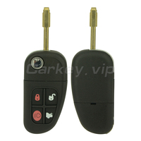Remotekey Flip remote car key 4 button 315 mhz for Jaguar XJ XK S X type NHVWB1U241 FO21 key blade