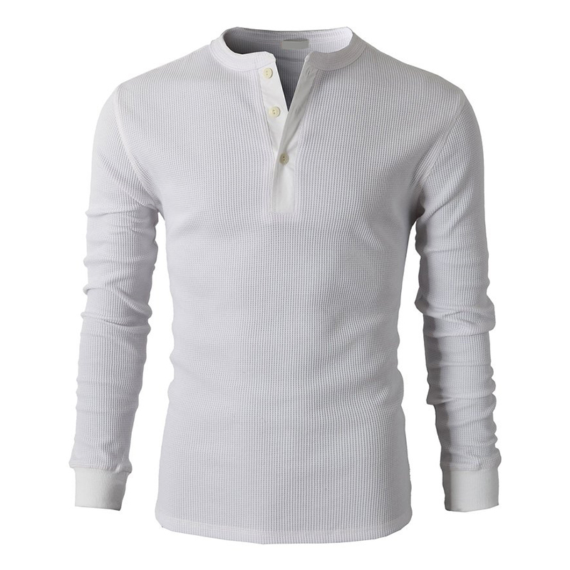2f1716ed335 2015New Hot Men Designer Shirts Henley Slim Fit Long Sleeve Cotton Casual  shirts Of Waffle Oversized t shirt Men Clothing-in T-Shirts from Men s  Clothing on ...