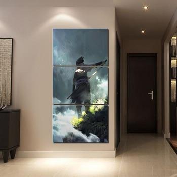 Painting Wall Art HD Printed 3 Piece Anime Naruto Sasuke Uchiha Poster Modular Canvas Home Decoration Pictures For Living Room Leather bag