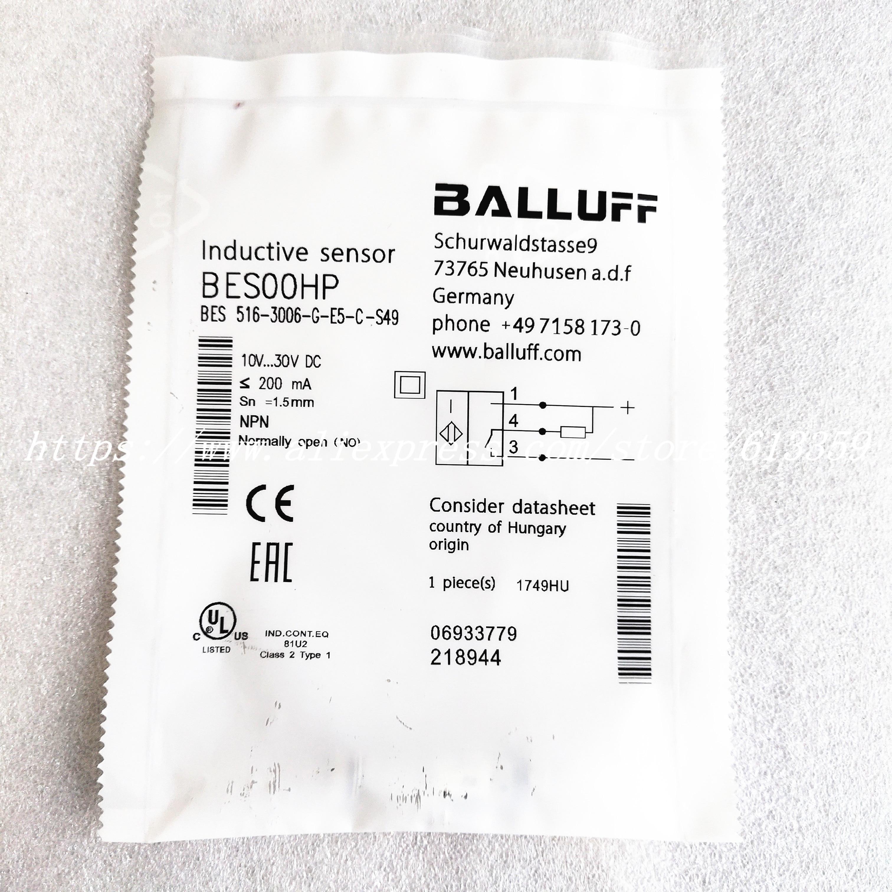 Датчик приближения BES 516-3006-G-E5-C-S49 Balluff, новый высококачественный