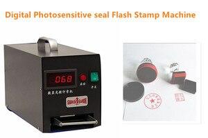 NEW 220V Digital Photosensitive seal Flash Stamp Machine Selfinking Stamping Making Seal System