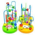 Mini Brinquedos Do Bebê De Madeira Pequeno Em Torno de Contas Em Torno Dos Brinquedos Educativos para a Primeira Infância Brinquedos Hands-on Do Cérebro Visual de Escuta brinquedos