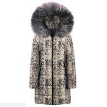 2019 snake pattern womens winter jackets Women Coat Jacket Length Woman Parka Padded Female Oversize Coat Parka