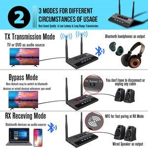 Image 3 - 3 trong 1 Tầm xa Bluetooth 5.0 Thiết Bị Thu Phát NFC có Âm Thanh APTX LL Quang Học HD 3.5mm RA 2 ĐẦU RCA AUX cho TV/Âm Thanh Nổi Tại Nhà