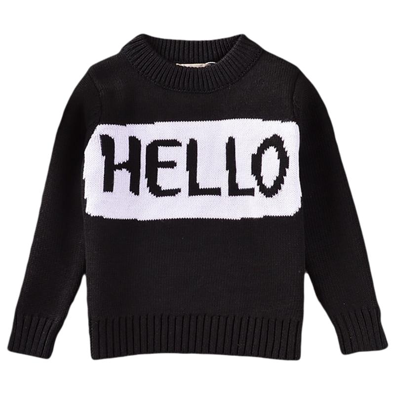 Anya lánya divat pulóver 2018 új levél nyomtatás fekete kötött - Gyermekruházat - Fénykép 2