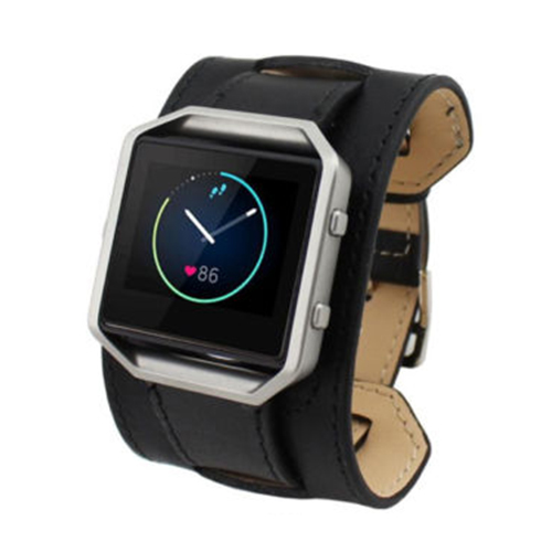 Bracelet de montre en cuir Double Tour Bracelet de montre pour Fitbit Blaze LED traqueur de montre, type de Bracelet noirBracelet de montre en cuir Double Tour Bracelet de montre pour Fitbit Blaze LED traqueur de montre, type de Bracelet noir