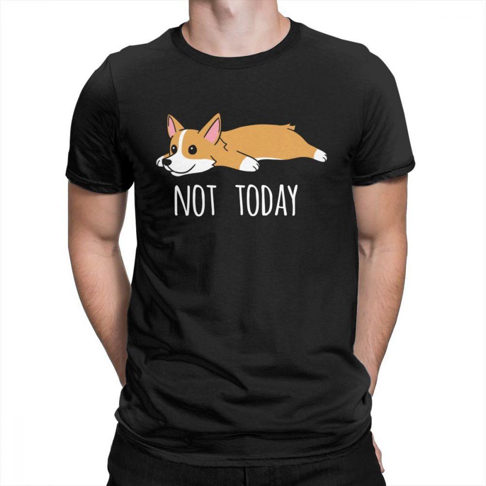 Men's Clothing Bright Man Corgi Dog Short Sleeve T-shirts Crew Neck Custom Work Shirt Corgi Mens T Shirt Sale Price Tops & Tees