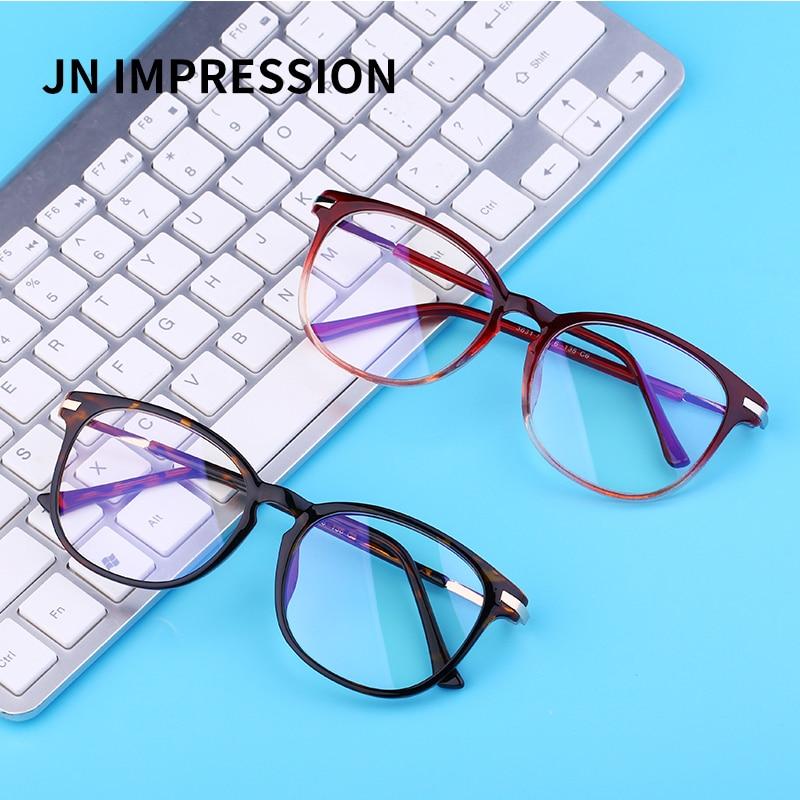 J N New Blue Light Blocking Computer Glasses Women Men Anti Blue Light Gaming Glasses Metal Frame High Quality FLG3631