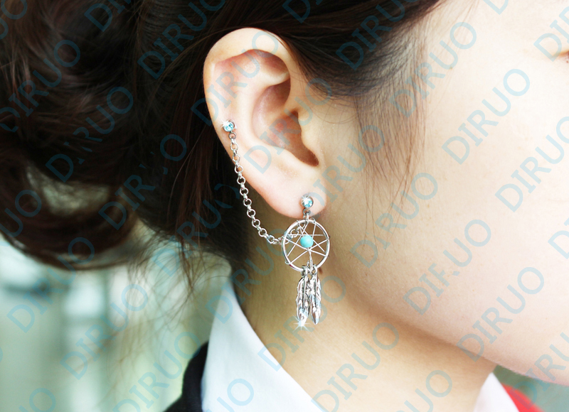Dream Catcher Ear Cuff New Arrival Fashion Girl's Body Jewelry Dream Catcher Star Helix 29
