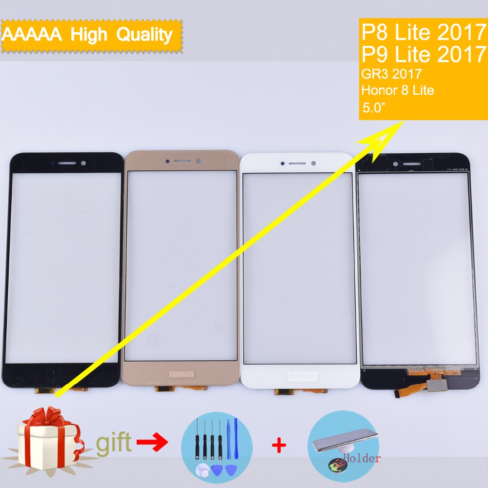 For Huawei P9 Lite 2017 PRA-LX1 Nova Lite GR3 P8 Lite 2017 Touch Screen Touch Panel Sensor Digitizer Front Glass PRA-LX2 PRA-LA1