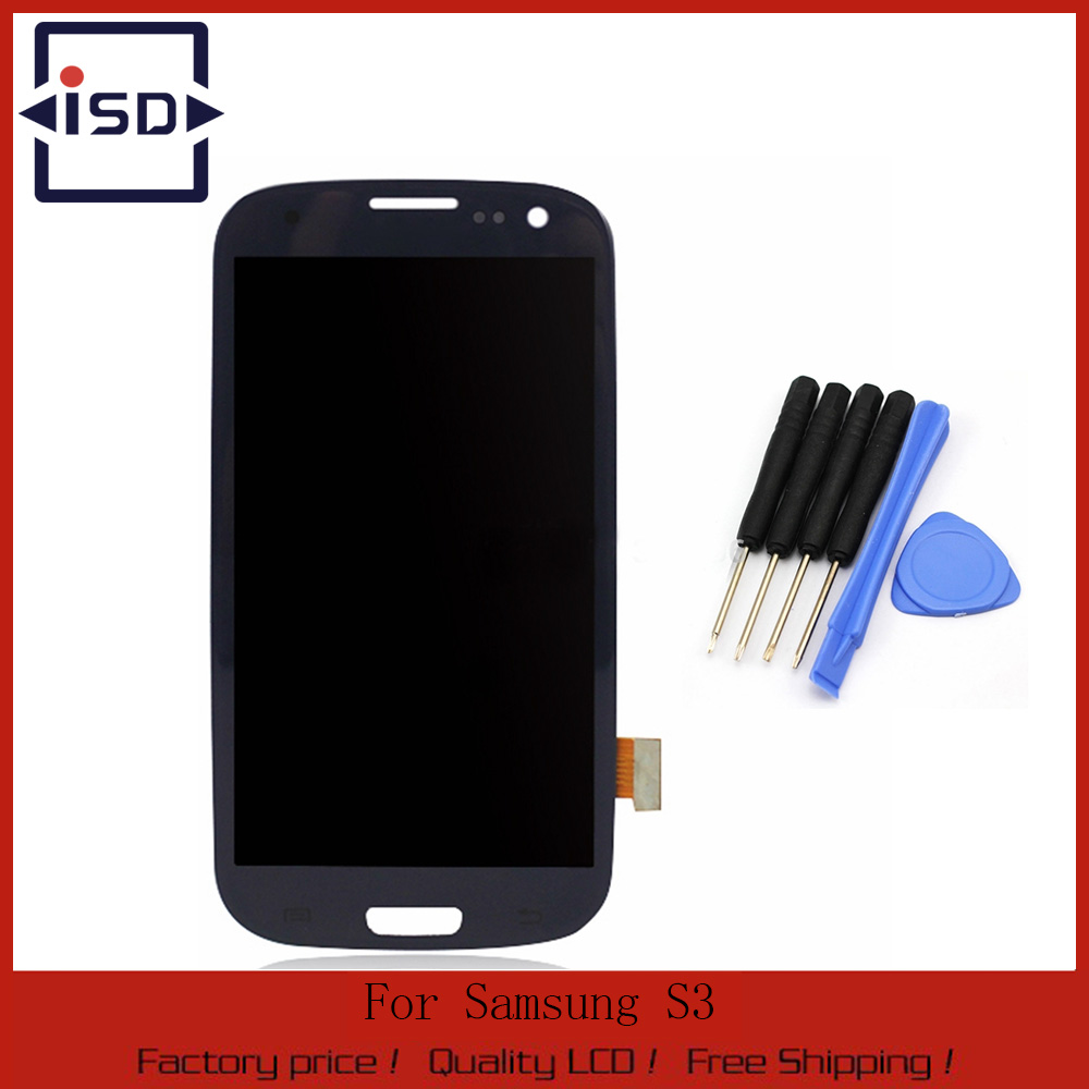 ФОТО For Samsung Galaxy S3 i9300 LCD Display with Touch Screen Digitizer Glass Assembly + Tools , Blue color Free shipping !!!