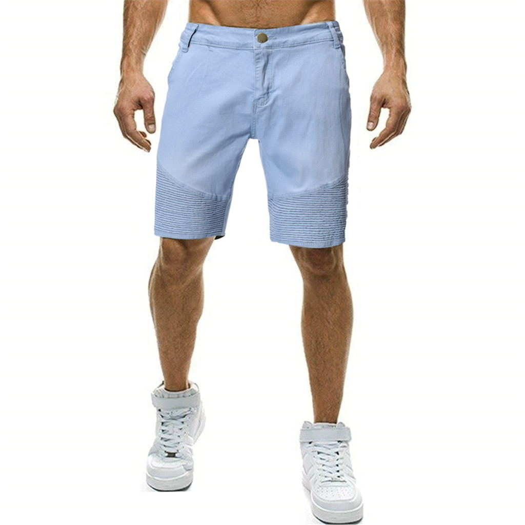 2019 Men's Cotton Thin Denim Shorts New Fashion Summer Male Casual Short Jeans Soft And Comfortable Casual Shorts
