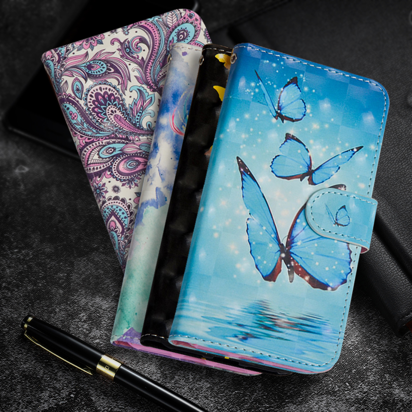 Fundas Butterfly Flip SmartPhone <font><b>Case</b></font> For <font><b>Lenovo</b></font> Vibe <font><b>C2</b></font> Capa Wallet PU Leather TPU Cover For <font><b>Lenovo</b></font> vibe <font><b>C2</b></font> Power K10a40 Coque image