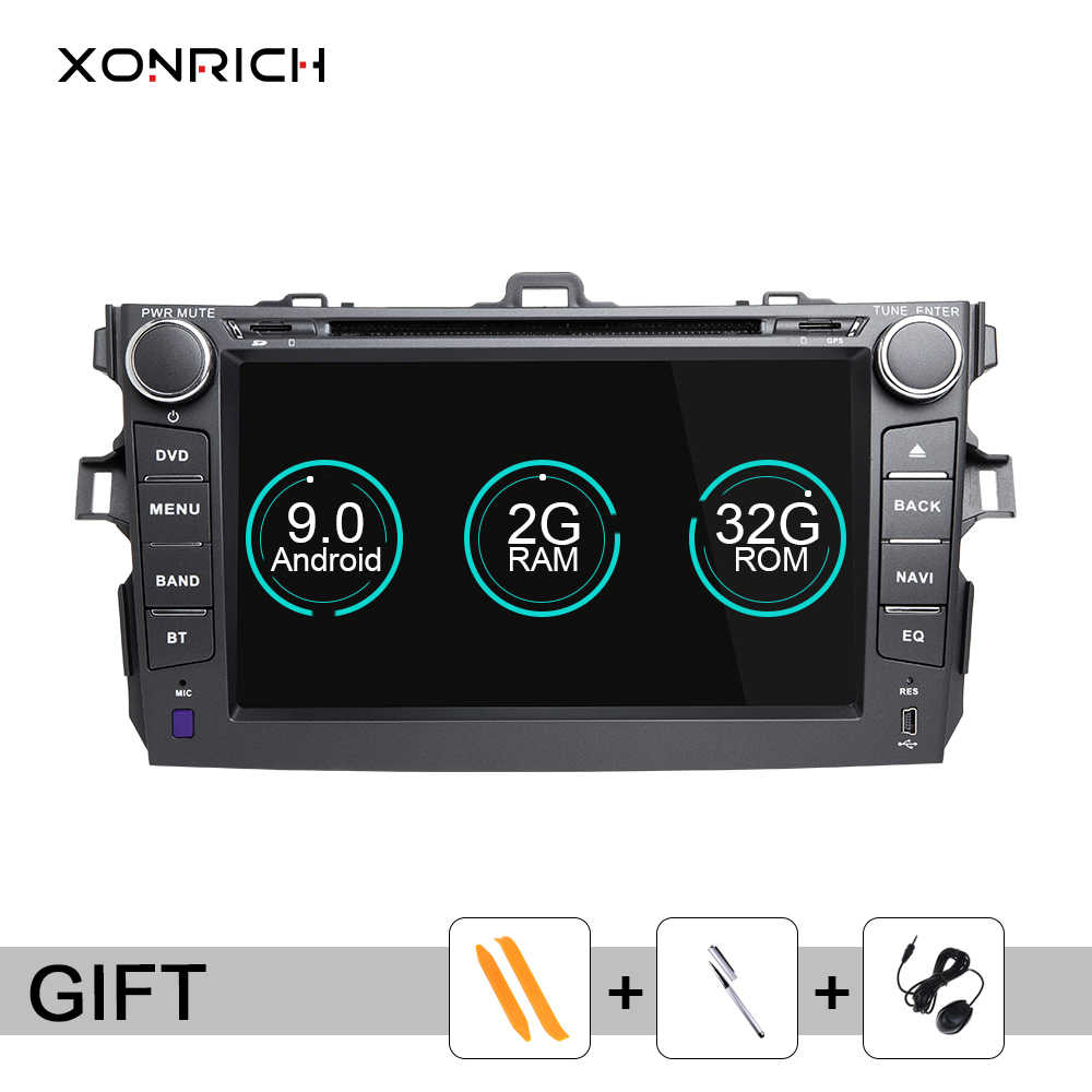 Xonrich 2 Din Android 9.0 Car DVD Multimedia Player For Toyota Corolla 2007 2008 2009 2010 2011 stereo GPS Navigation AutoRadio