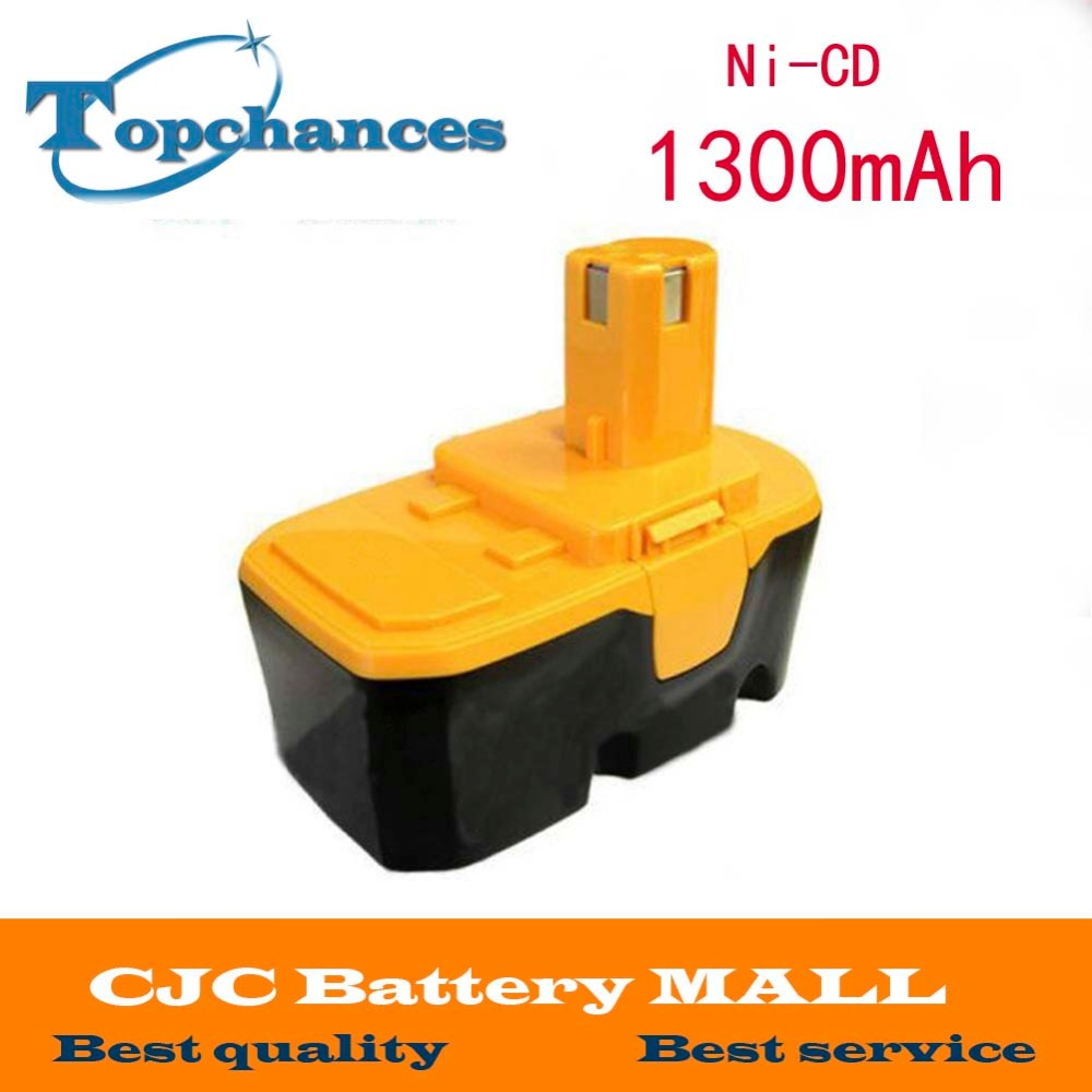 New 18V Ni-CD 1.3Ah Replacement Power Tool Battery for Ryobi ABP1801 ABP1803 BCP1817/2SM