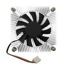 CPU Cooler LGA115X Ultra Thin 4Pin Pin Intelligent Temperature Control Speed PMW Heat Sink Fan For Mini Case