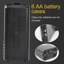 6 AA Battery Case Storage Box For Baofeng UV5R 5RA 5RB 5RA Plus BL5L Two Way Radio Power Bank Box For Baofeng UV5R 5RA 5RB 5RA