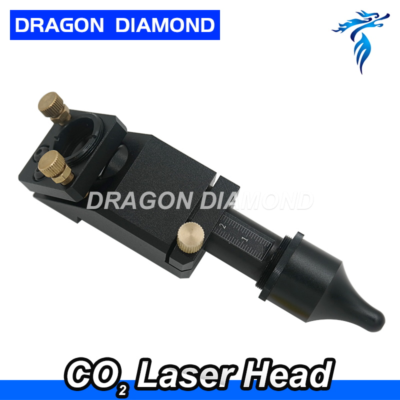 Hot sell Co2 laser head for laser cutter engraver machine Focus Length 50.8/63.5 2/2.5 inch lens 20mm mirror 25mm laser head engraving laser cutting head for 20mm laser focus lens 25mm laser mirror