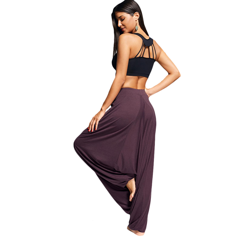 Women's Solid Color Loose Harem Pants 5