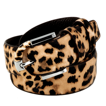 Genuine leather+pvc leopard print belt for women fashion pin buckle waist woman belt luxury desigener brands leather belt female