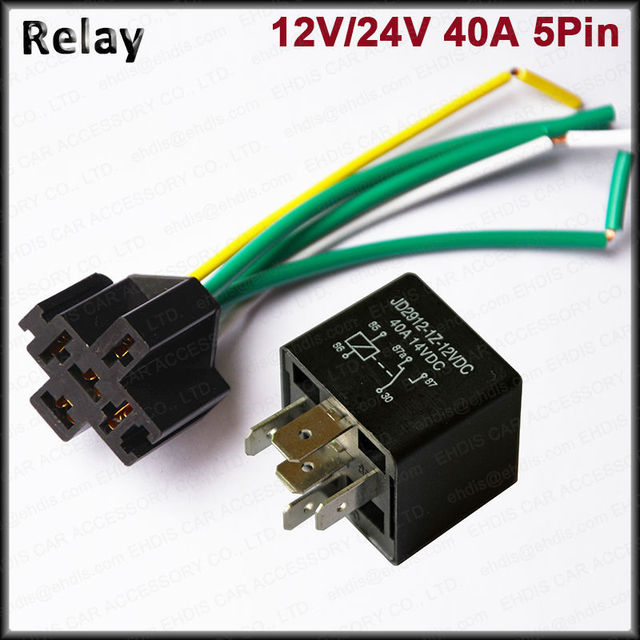Strange Car Truck Relay Socket Harness 5Pin 12V 24V 40A 5 Pre Wired Spdt Wiring Digital Resources Xeirawoestevosnl