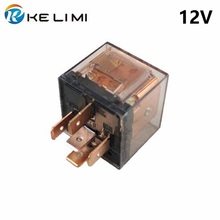 цена на KELIMI Car Relay 80a 12 Volt coil DC 4Pins 5Pins 24V Heavy-duty impact moulded Transparent SPDT Relay