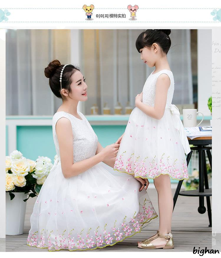 Lace dress mother daughter dresses vestido family matching for Mother daughter dresses for weddings