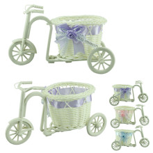 Большое колесо круглая корзина из ротанга поплавки Цветочная ваза цветочные горшки контейнеры маленький цветочный велосипед/цветочный горшок 916 необыкновенный