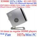 Продукт игры компьютер mini пк 12 v с Intel Celeron 1037u двухъядерный 1,8 ггц 4 G RAM 64 G SSD