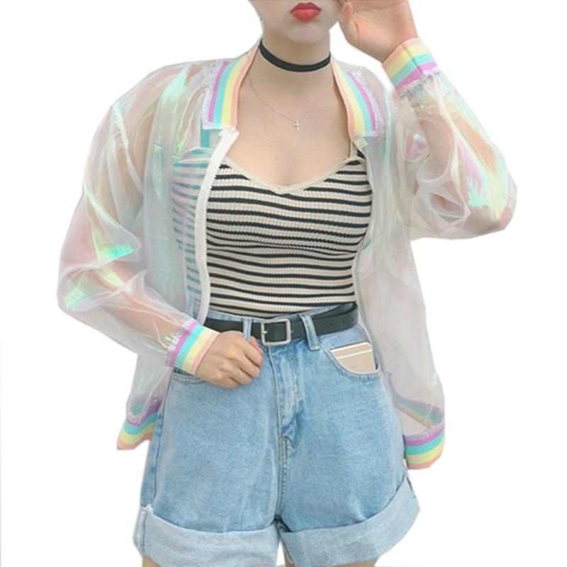 Veste transparente hologramme pour femme ...