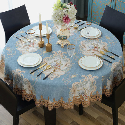 luxury european style round table cloth with lace edge kitchen rh aliexpress com