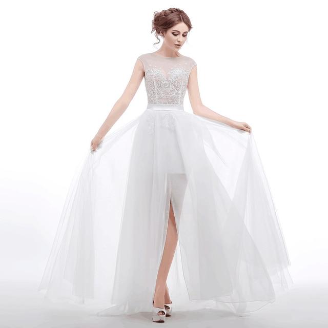 Aliexpress.com : Buy Charming Paolo Sebastian White Wedding Dress ...
