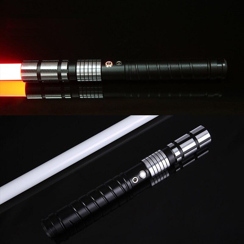 LGT sabre laser lourd Jedi Sith lumière LED Force de sabre Rechargeable FX son fort haute lumière avec poignée en métal FOC noël