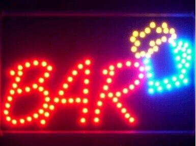 2017 vente directe personnalisé Semi-extérieur graphiques led signe 10*19 pouces lumière Pub bar bière magasin néon signalisation