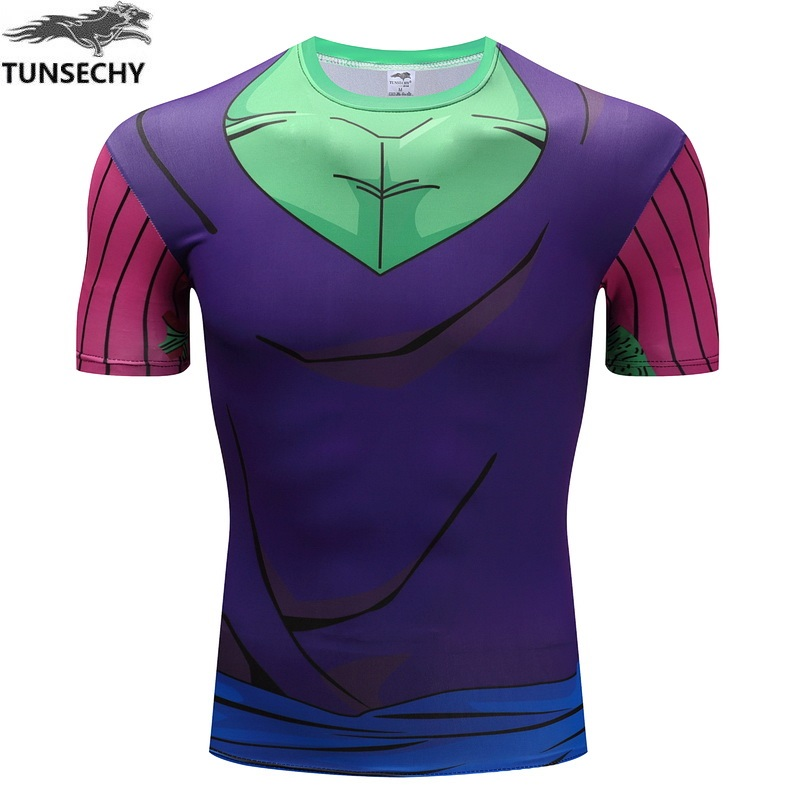 The new 2016 cartoon dragonball super Isaiah vegeta The son of sun wukong bick archenemy, etc. Series of lycra tight t-shirts