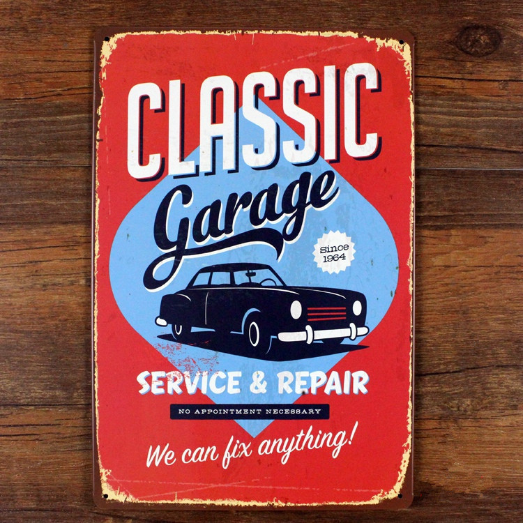 Compra vintage esta o coches online al por mayor de china for Plaque w garage assurance