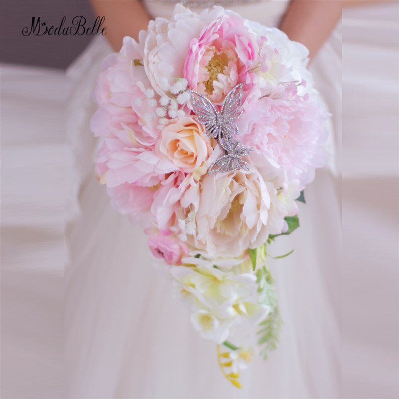 Coral And Pink Wedding Flowers: New Style Coral Pink Rose Peony Wedding Flowers Bridal