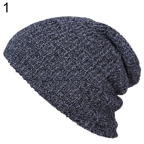 2016 Warm Winter Women Men Beanie Hat Oversize Slouchy Baggy Unisex Knit Cap Skull  8MUF knit men s women s baggy beanie oversize winter warm hat slouchy chic crochet knitted cap skull