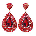 Charm Jewelry Full Crystal Rhinestone Big Drop Earring Fashion long earring for women wedding