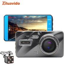 Bluavido 4 «ips 1080 P тире камера ADAS автомобиля видео регистраторы ночное видение IMX323 двойной объектив Full HD 1080 автомобиля DVRs петли Запись