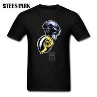 Men S T Shirt Daft Punk Helmet Male Short Sleeve O Neck Tee Shirt High Quality