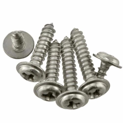 100Pcs M2 M2.5 M3 Iron plated nickel Steel Round Washer Head Phillips Pan Head Self-tapping Screw m3 brass phillips pan head machine screw
