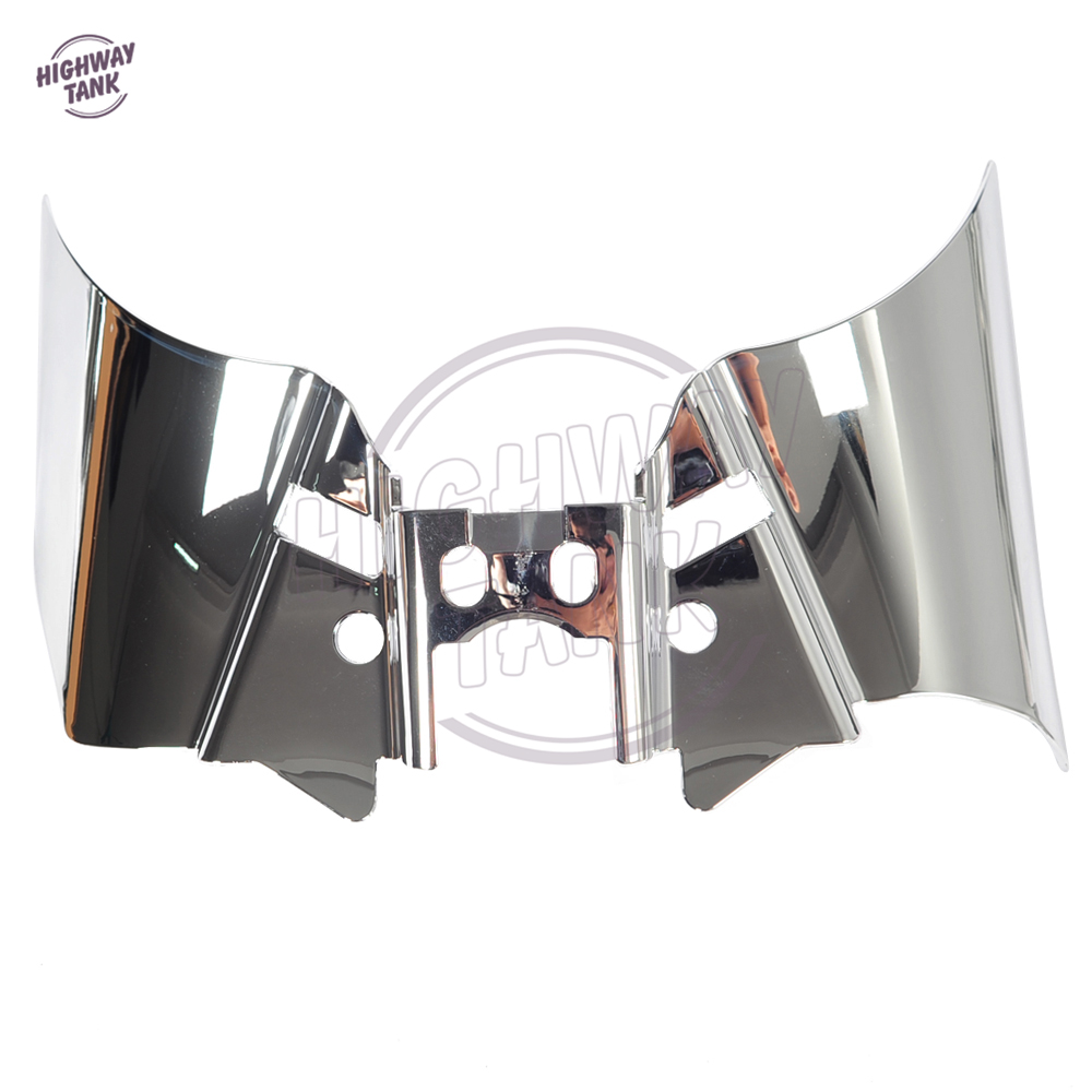1 Pcs Chrome Motorcycle Saddle Shield Heat Deflector case for Harley Dyna FXD FXDWG 1999-2016 4pcs set smoke sun rain visor vent window deflector shield guard shade for hyundai tucson 2016