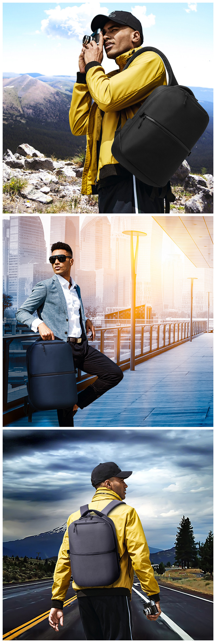 Ozuko hot sale pack new design travelling bags luggage oxford school bag for men anti-theft business bag anti theft backpack