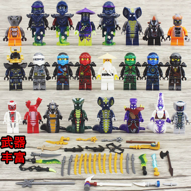 24 Pieces / Ninja Models Building Blocks Classic Action Figures Toys Childrens Gifts NinjagoINGly Compatible Legoinglys Brick To